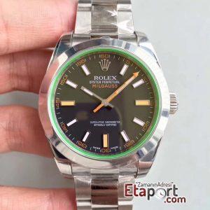 Rolex Milgauss 2824 ARF Yeşil Safir Cam Siyah Kadran Super Clone Eta Mekanizma