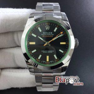 Rolex Milgauss 2836 DJF Yeşil Safir Cam Siyah