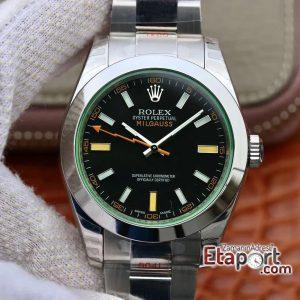 Rolex Milgauss 3131 ARF Yeşil Safir Cam Siyah Kadran (1 (4)