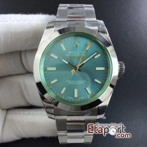 Rolex Milgauss GV Real Green Sapphire DJF 1-1 Best Edition Blue Dial on Super Clone 2836 Eta Mechanism 904L Steel
