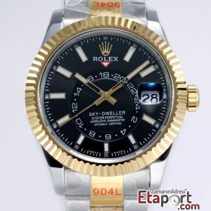 Rolex Sky-Dweller 316L Çelik Kasa Ve Kordon 9001 Super Clone ETA Mekanizma