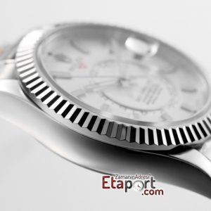 Rolex Sky-Dweller 9001 Super Clone ETA Mekanizma 316L Çelik Kasa Ve Kordon Mavi Kadran (Kopya)