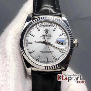Rolex Steel Day-Date 2836 Swiss Eta Mekanizma 904L Çelik 36mm Kasa