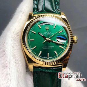 Rolex Yeşil Day-Date 2836 Swiss Eta Mekanizma 904L Çelik 36mm Kasa